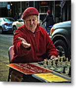 The Chess King Jude Acers Of The French Quarter Metal Print