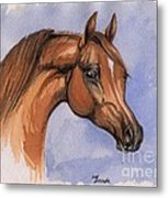 The Chestnut Arabian Horse 1 Metal Print