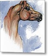 The Chestnut Arabian Horse 4 Metal Print
