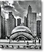 The Chicago Bean II Metal Print