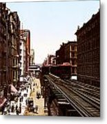 The Chicago El Metal Print