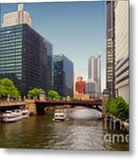 The Chicago River South Branch Metal Print