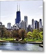 The Chicago Skyline Day-001 Metal Print