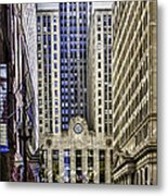 The Chicago Skyline Day-006 Metal Print