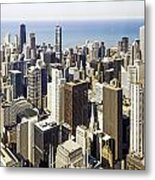 The Chicago Skyline From Sears Tower-001 Metal Print