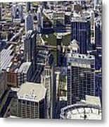 The Chicago Skyline From Sears Tower-005 Metal Print