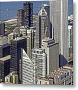 The Chicago Skyline From Sears Tower-006 Metal Print