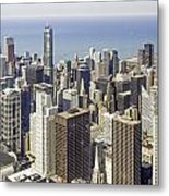 The Chicago Skyline From Sears Tower-009 Metal Print