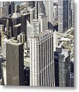 The Chicago Skyline From Sears Tower-010 Metal Print