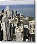 The Chicago Skyline From Sears Tower-011 Metal Print
