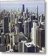 The Chicago Skyline From Sears Tower-013 Metal Print