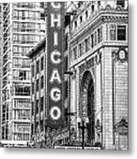 The Chicago Theatre Metal Print