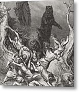 The Children Destroyed By Bears Metal Print