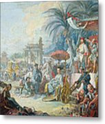 The Chinese Fair, C.1742 Oil On Canvas Metal Print