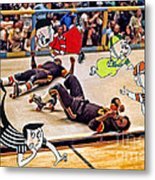 The Chipmunks Skating Roller Derby Metal Print