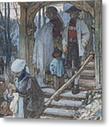 The Christening Gate In Lausanne, C.1861 Metal Print
