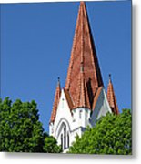 The Chuch Tower- Silute- Lithuania Metal Print