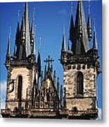 The Church Of Mother Of God In Front Of Tyn Metal Print