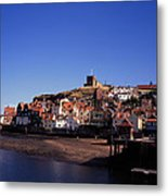 The Church Of St Mary's And Whitby Abbey North Yorkshire England Metal Print