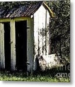 The Church Outhouse Metal Print