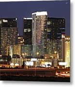 The City Center At Las Vegas Strip Metal Print