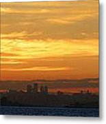 The City From Across The Bay Metal Print