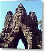 The City Gates At Angkor Metal Print