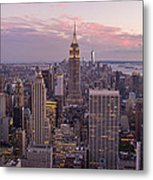 The City In The Evening Metal Print