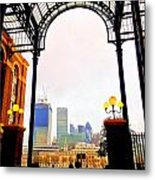 The City Of London Seen From The South Bank Metal Print