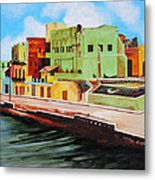 The City Of Matanzas In Cuba Metal Print