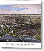 The City Of Washington Birds Eye View Metal Print