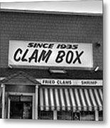 The Clam Box Metal Print