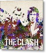The Clash Portrait Metal Print