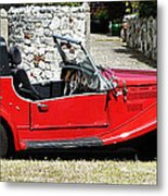 The Classic Red Convertible  Metal Print