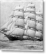 The Clippership Taeping Under Full Sail Metal Print