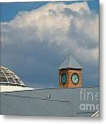 The Clock And The Dome Metal Print
