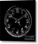 The Clock Metal Print