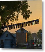 The Clothes Line Metal Print