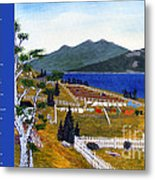 The Clothesline Metal Print