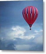 The Clouds Below - Hot Air Balloon Metal Print