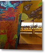 The Clouds Pass By My Window Metal Print