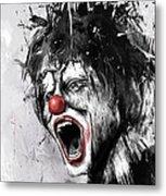 The Clown Metal Print
