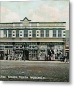 The Co-operative Stores At  North Metal Print