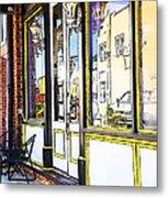 The Coffee Shop Metal Print by Jim  Calarese