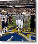 The Coin Toss Metal Print