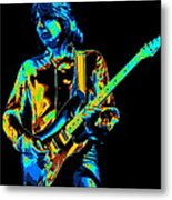 The Colorful Sound Of Mick Playing Guitar Metal Print