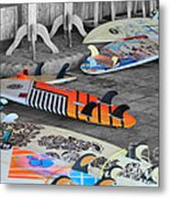 The Colorfulness Of Surfing Metal Print