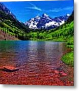 The Colors Of Maroon Bells In Summer Metal Print