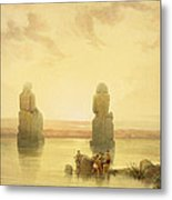 The Colossi Of Memnon Metal Print by David Roberts
