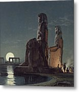 The Colossi Of Memnon, Thebes, One Metal Print